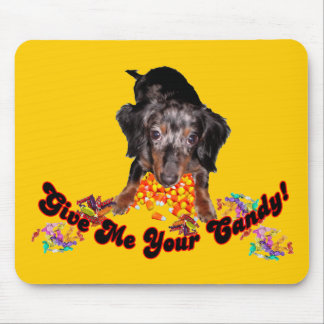 Give Me Your Candy Dachshund with Candy Mouse Pad