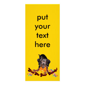 Give Me Your Candy Dachshund with Candy Rack Card Design