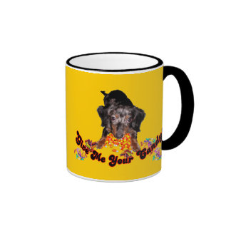 Give Me Your Candy Dachshund with Candy Ringer Mug