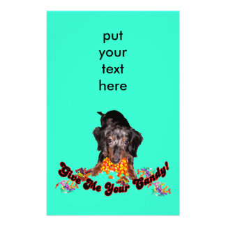 Give Me Your Candy Dachshund with Candy Stationery
