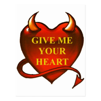 Give me your Heart Postcard