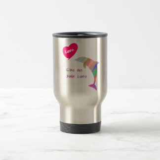 Give me your love_dolphin travel mug