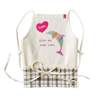 Give me your love zazzle HEART apron