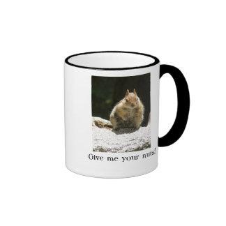 Give me your nuts! ringer mug