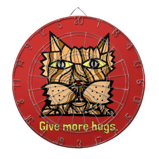 """Give More Hugs"" Metal Cage Dartboard"
