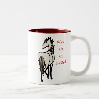 Give My My Space! Two-Tone Coffee Mug