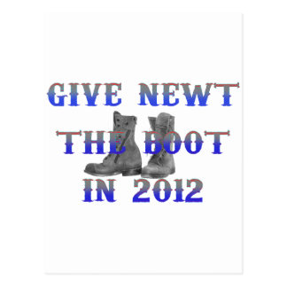 Give Newt The Boot Postcard