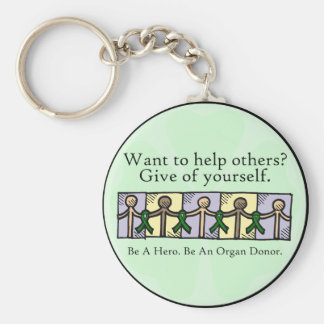 Give of Yourself Basic Round Button Keychain