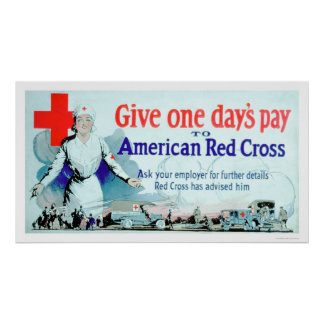 Give One Day's Pay to the Red Cross (US00048) Poster