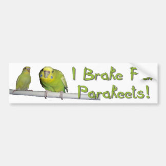 Give Parakeets A Brake Car Bumper Sticker