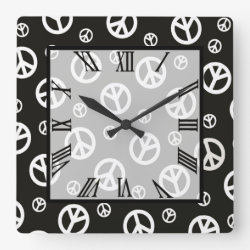 Give Peace a Chance 1 Square Wall Clock