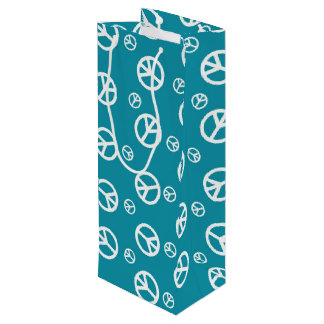 Give Peace a Chance 2 Wine Gift Bag