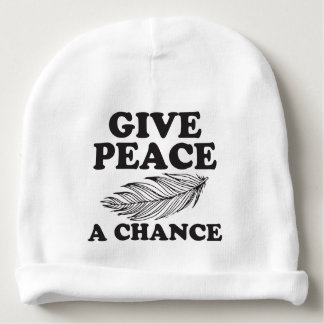 give peace a chance baby beanie