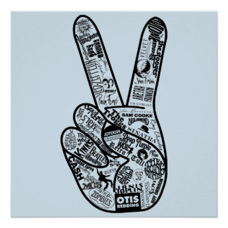 Give peace a chance - Band poster
