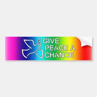 Give Peace a Chance Car Bumper Sticker