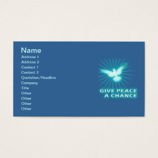 Give Peace a Chance Business Card