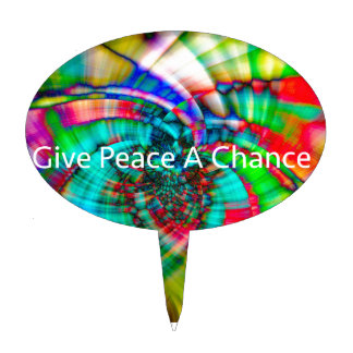 Give Peace a Chance Cake Topper