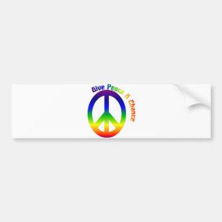 Give Peace a Chance! Car Bumper Sticker