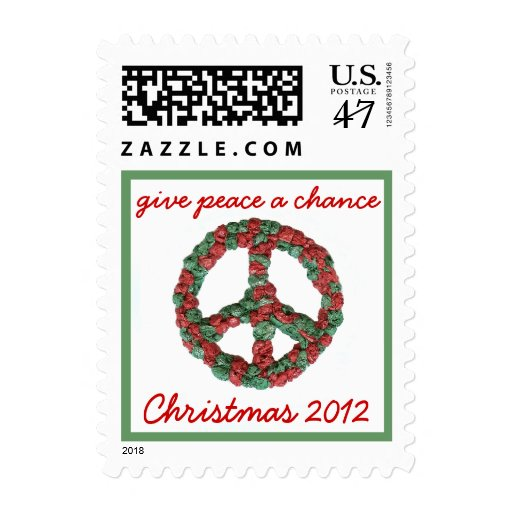 Give Peace a Chance Christmas / holiday stamp