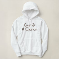 Give Peace A Chance Embroidered Hoodie