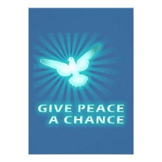 Give Peace a Chance Custom Announcements