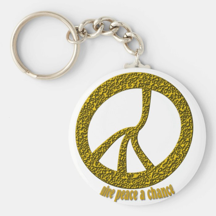 Give Peace a chance Keychain
