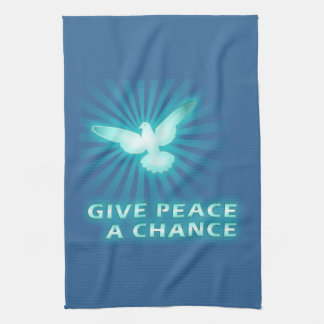Give Peace a Chance Kitchen Towel