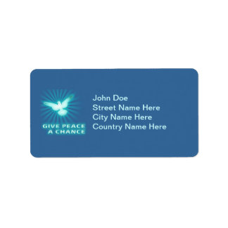Give Peace a Chance Address Label