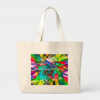 Give Peace a Chance Large Tote Bag