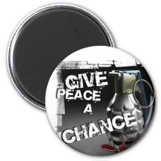 Give peace a chance 2 inch round magnet