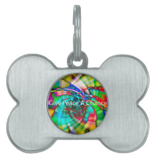 Give Peace a Chance Pet Name Tag
