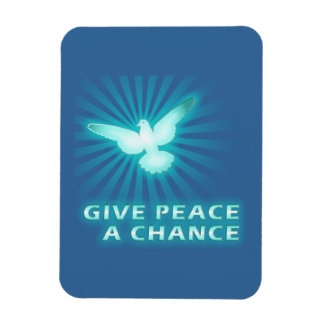 Give Peace a Chance Rectangular Photo Magnet