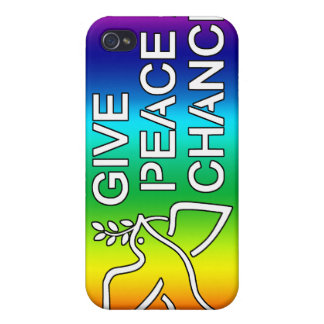 Give Peace a Chance (Rainbow)  Covers For iPhone 4