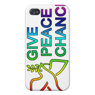 Give Peace a Chance (Rainbow)  iPhone 4 Cases