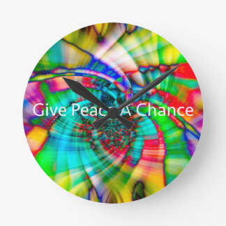 Give Peace a Chance Round Clock