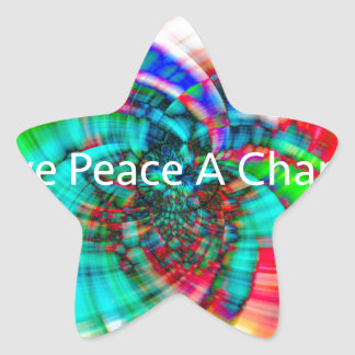 Give Peace a Chance Star Sticker