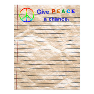 Give PEACE a chance Stationery