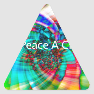 Give Peace a Chance Triangle Sticker