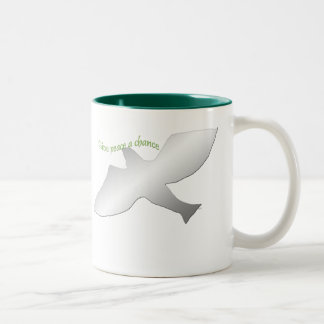 Give Peace A Chance Two-Tone Coffee Mug
