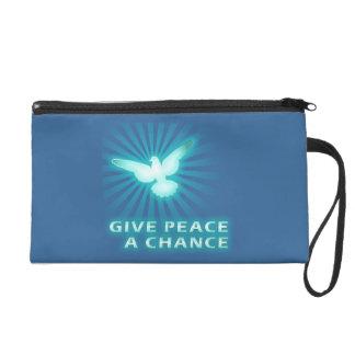 Give Peace a Chance Wristlet Clutch