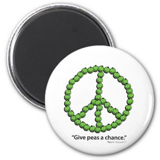 Give Peas A Chance 2 Inch Round Magnet