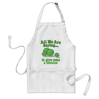 Give peas a chance. adult apron