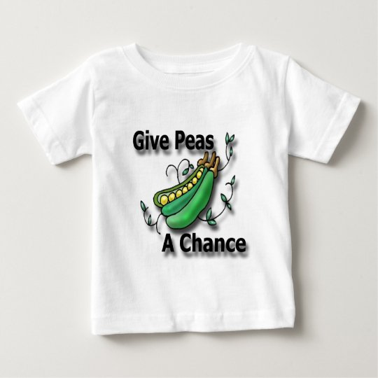 Give Peas A Chance black Baby T-Shirt