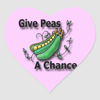 Give Peas A Chance black Stickers