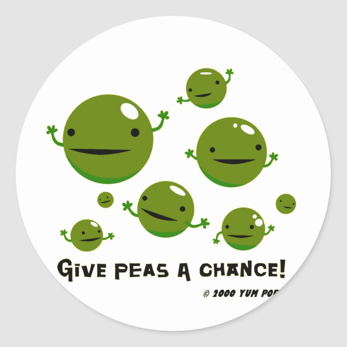 Give Peas a Chance Classic Round Sticker