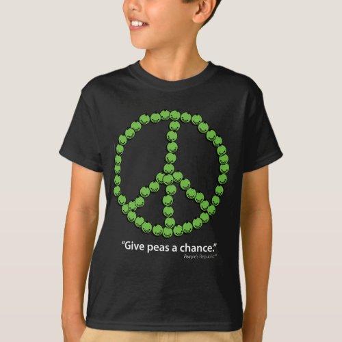 Give Peas A Chance Dark fabrics T_Shirt