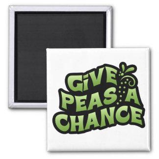 Give Peas A Chance Fridge Magnet