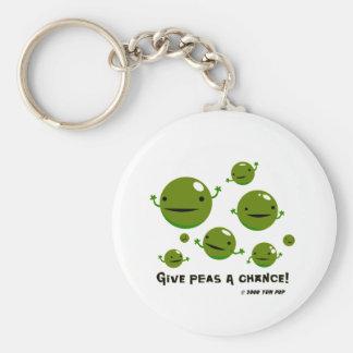 Give Peas a Chance Keychain