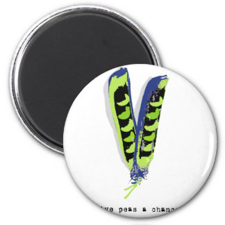 give peas a chance-light 2 inch round magnet