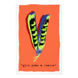 give peas a chance-orange customized stationery